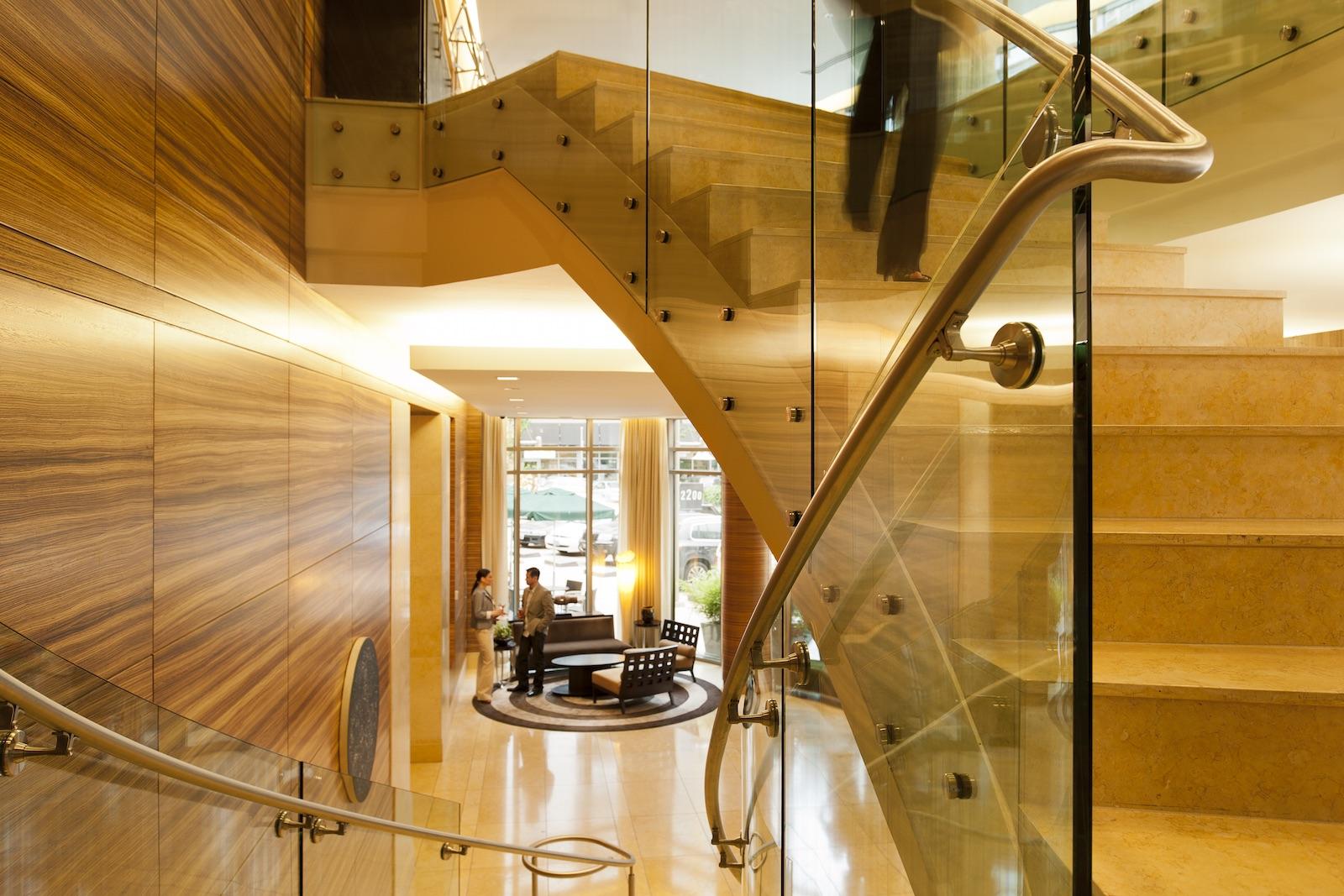 Lobby stairs angle 6909