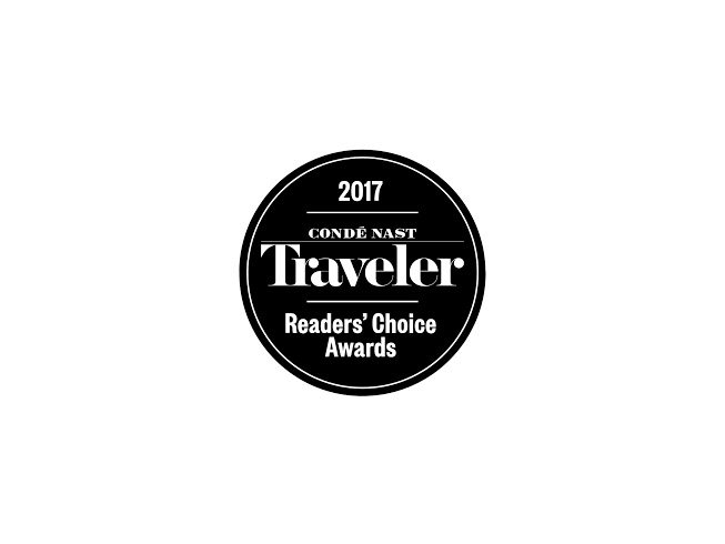 badge for Conde Nast Traveler 2017 Readers' Choice Awards